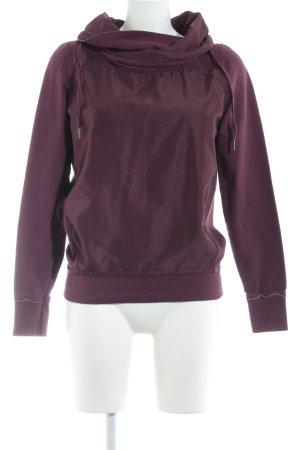 Garcia Jeans Sweatshirt bordeauxrot Casual-Look
