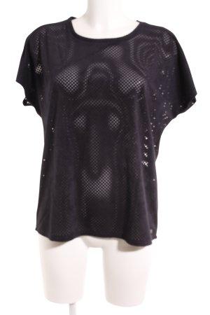 Garcia Jeans T-Shirt dunkelblau Casual-Look