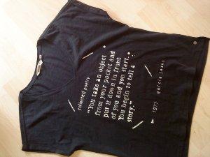 Garcia Jeans  T-Shirt dunkelblau mit weißen Schriftzügen M