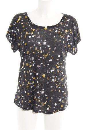Garcia Jeans T-Shirt Farbtupfermuster Casual-Look