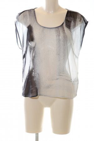 Garcia Jeans Transparenz-Bluse schwarz-weiß abstraktes Muster Casual-Look