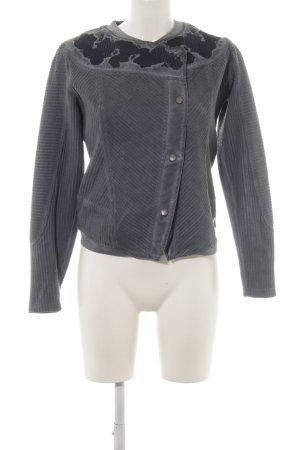 Garcia Jeans Übergangsjacke graublau-dunkelblau abstraktes Muster Casual-Look