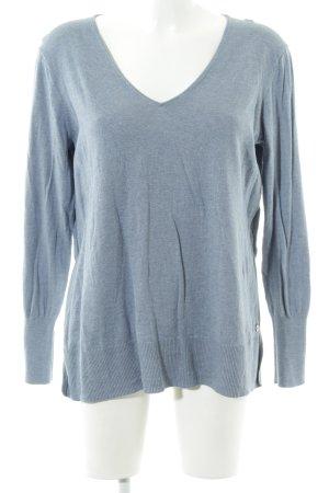 Garcia Jeans V-Ausschnitt-Pullover meliert Casual-Look