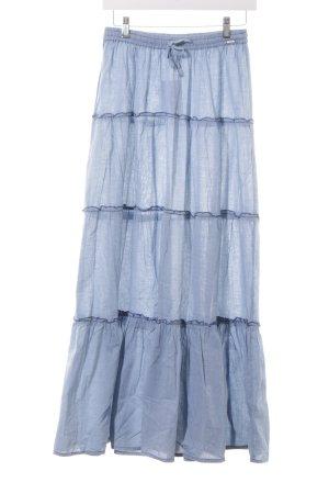 Garcia Falda larga azul celeste-azul acero look casual