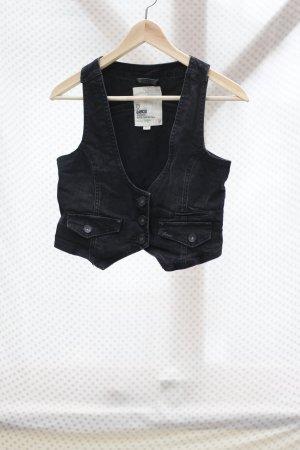 GARCIA - schwarze Jeansweste - Vintage - Gr. S