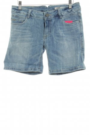 Garcia Shorts stahlblau Jeans-Optik