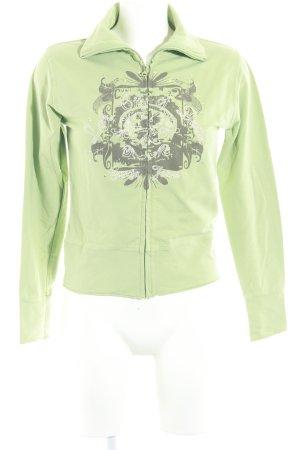 Garcia Sportjacke dunkelbraun-grasgrün abstraktes Muster Casual-Look