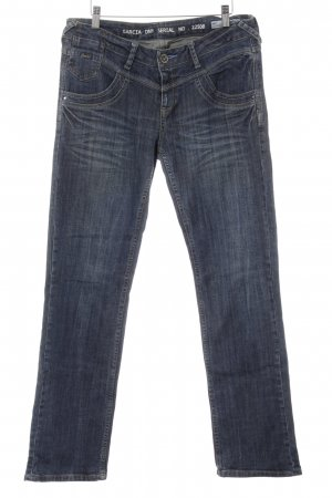 Garcia Straight-Leg Jeans dunkelblau-graublau Casual-Look