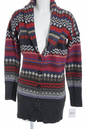 Garcia Knitted Coat multicolored mixture fibre