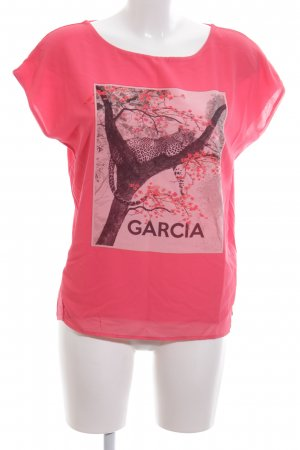 Garcia T-Shirt Blumenmuster Casual-Look
