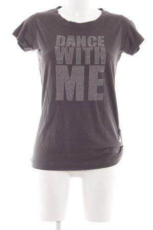 Garcia T-Shirt braun Schriftzug gedruckt Casual-Look