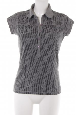 Garcia T-Shirt grau-schwarz Punktemuster Casual-Look