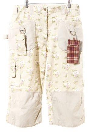 Garden Girl 3/4-Hose creme-blasslila florales Muster Street-Fashion-Look