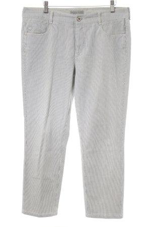 Gardeur 7/8-Hose weiß-dunkelblau Streifenmuster Casual-Look