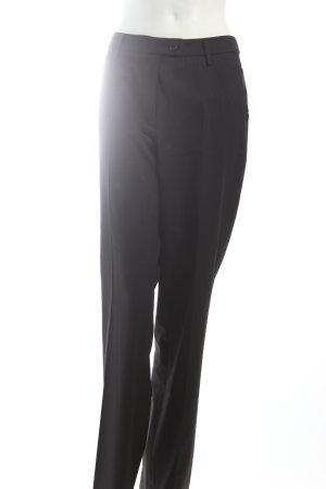 Gardeur Pantalon à pinces noir rayure fine style d'affaires