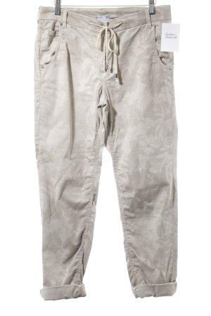Gardeur Pantalone cargo beige-crema motivo floreale stile casual
