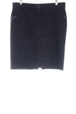 Gardeur Jeansrock schwarz schlichter Stil