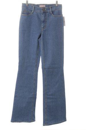 Gardeur Jeansschlaghose blau Jeans-Optik