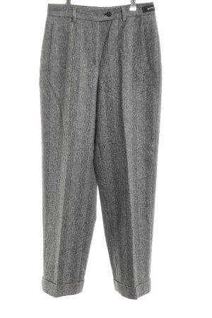 Gardeur Pantalón de pinza alto gris claro moteado estilo «business»
