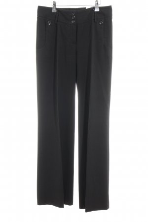 Gardeur Pantalón anchos negro estilo clásico