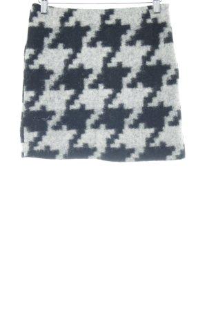Gardeur Minirock schwarz-grau abstraktes Muster extravaganter Stil
