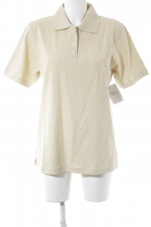 Gardeur Polo-Shirt creme Casual-Look