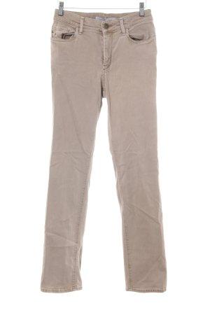 Gardeur Jeans a gamba dritta color cammello stile casual