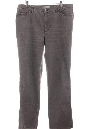 Gardeur Jeans met rechte pijpen donkergrijs casual uitstraling