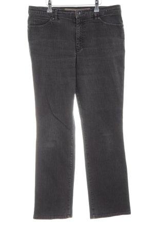 Gardeur Straight-Leg Jeans dunkelgrau schlichter Stil