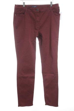 Gardeur Straight-Leg Jeans dunkelrot klassischer Stil