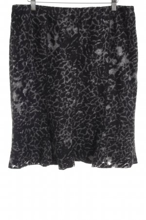 Gardeur Wool Skirt black-grey abstract pattern classic style