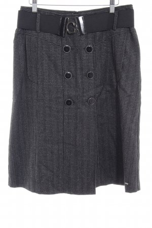 Gardeur Gonna di lana nero-grigio motivo a pied de poule stile classico