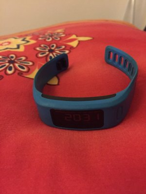 Garmin Vivofit Fitness-Tracker Fitnessarmband blau Damen kurz