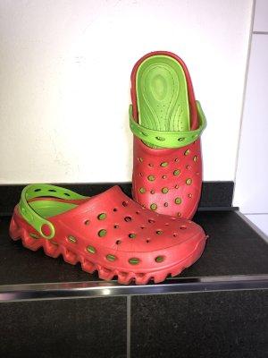 Sandalo outdoor rosso-verde