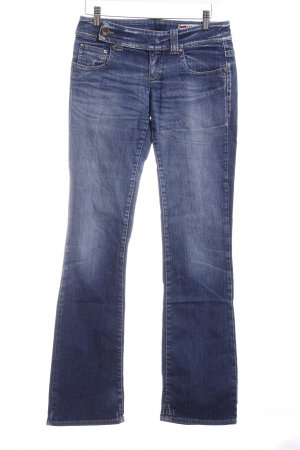 Gas Boot Cut Jeans blau meliert Casual-Look