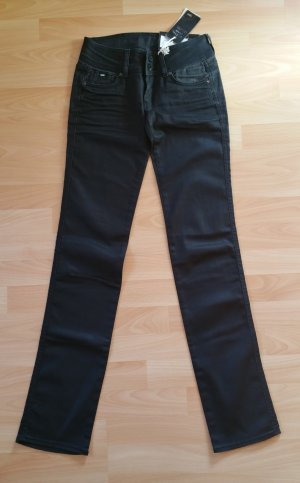 Gas Jeans D-Type 001 Series Shiny Black Denim Neu