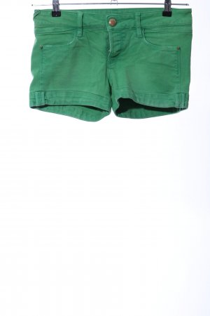 Gas Denim Shorts green casual look