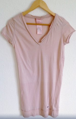 GAS Longshirt Shirt Lang Rosé Nude Wie American Vintage COS Yoga Mandala S M