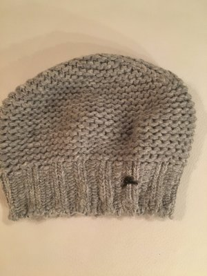 Gas Beanie light grey mixture fibre