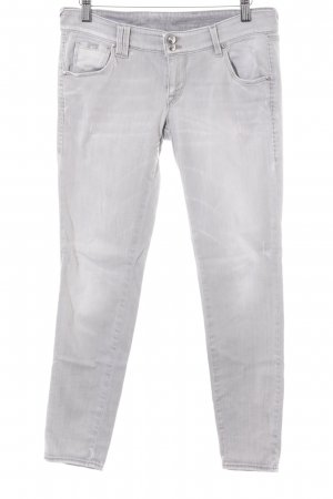 Gas Skinny Jeans hellgrau Destroy-Optik