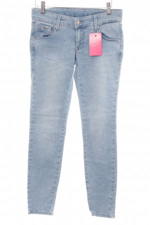 Gas Skinny Jeans himmelblau Washed-Optik