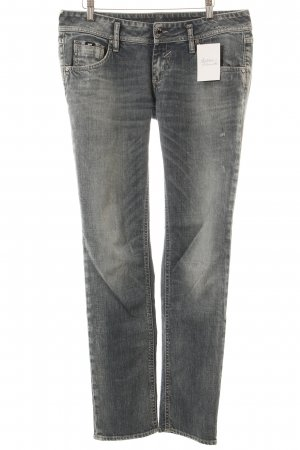 Gas Straight-Leg Jeans blau Used-Optik