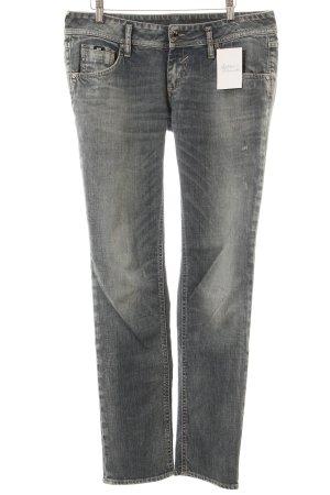 Gas Straight-Leg Jeans blau Used-Optik