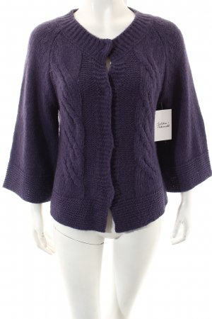 Gas Strickjacke dunkelviolett Casual-Look