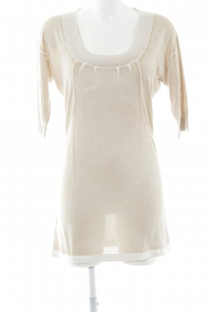 Gas Strickpullover creme-wollweiß meliert Casual-Look