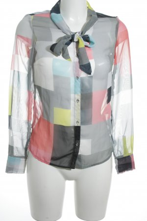 Gas Transparenz-Bluse Karomuster Casual-Look