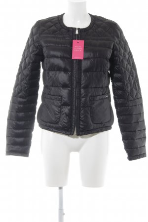 Gas Chaqueta reversible negro-color plata estampado acolchado