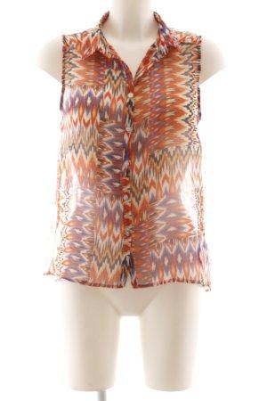 Gaudi ärmellose Bluse Kunstmuster Street-Fashion-Look