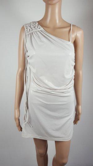 Gaudi Grigio Chiaro Damen Cocktailkleid Abendkleid Minikleid Wetlook Größe L NEU