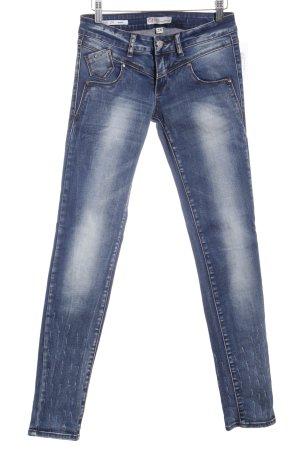 Gaudi Jeans Skinny Jeans blau Glitzer-Optik